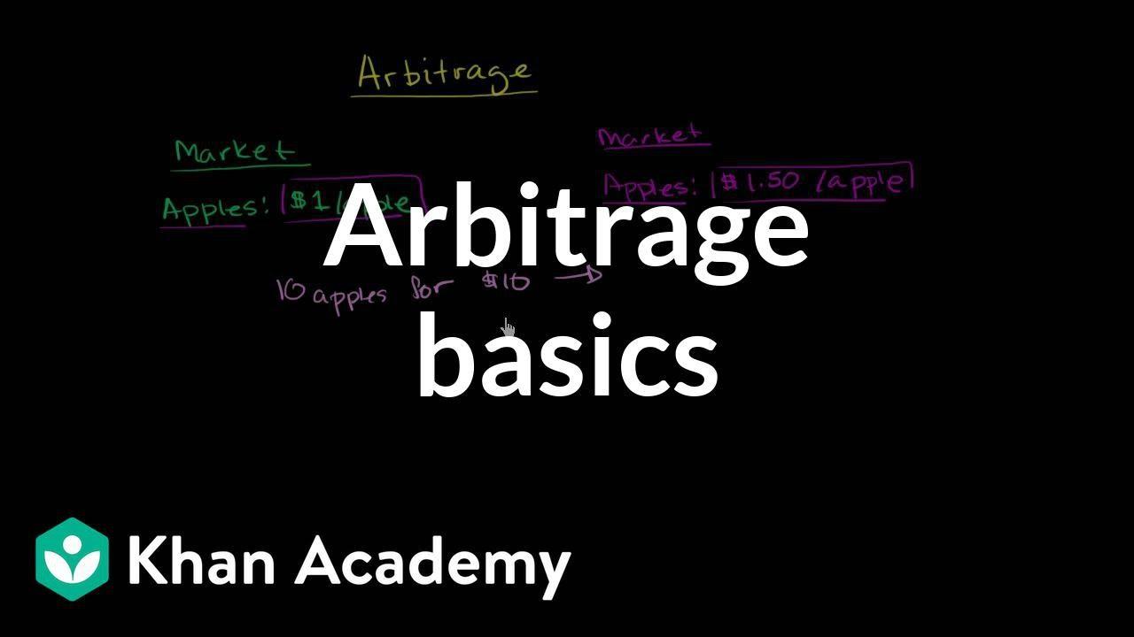 Arbitrage basics | Finance & Capital Markets | Khan Academy