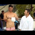 'Average Andy' with Michael Phelps