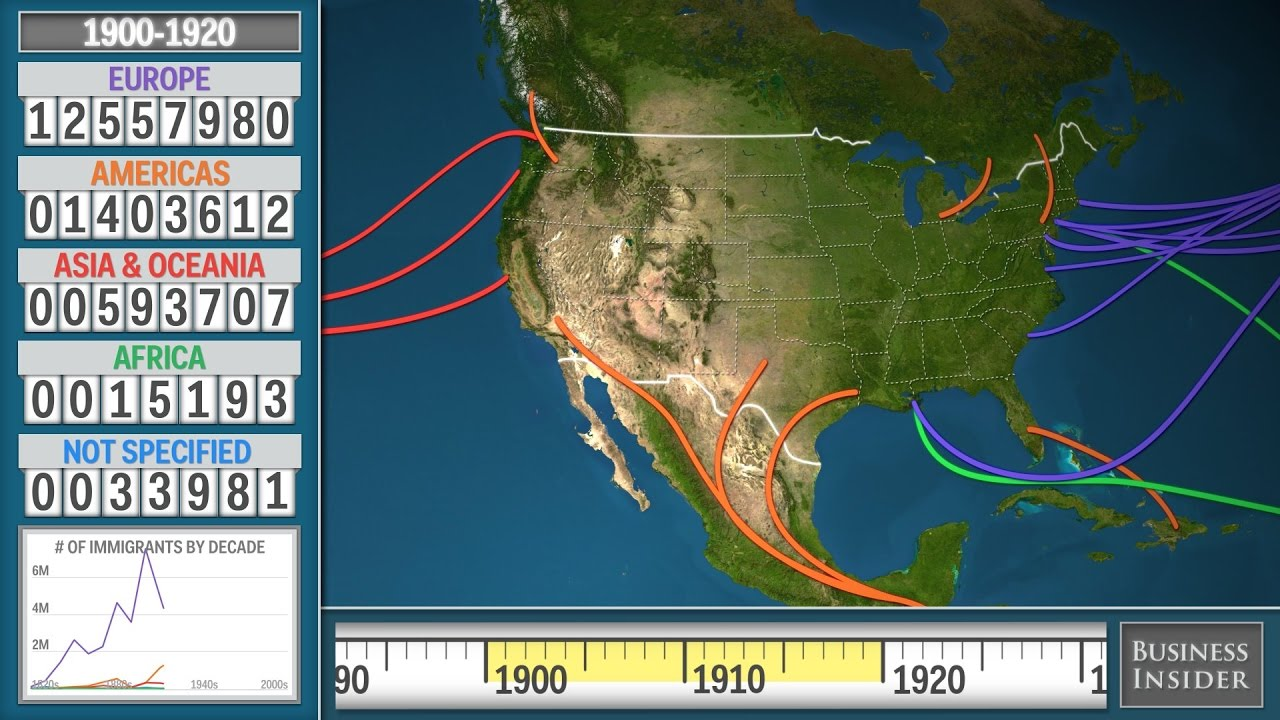 Animated Map Shows History Of Immigration To The US