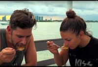 TRYING CHICKEN ADOBO FOR FIRST TIME - NATIONAL DISH OF THE PHILIPPINES - MIAMI BEACH VLOG
