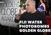 Fiji Water Photobombs Golden Globes