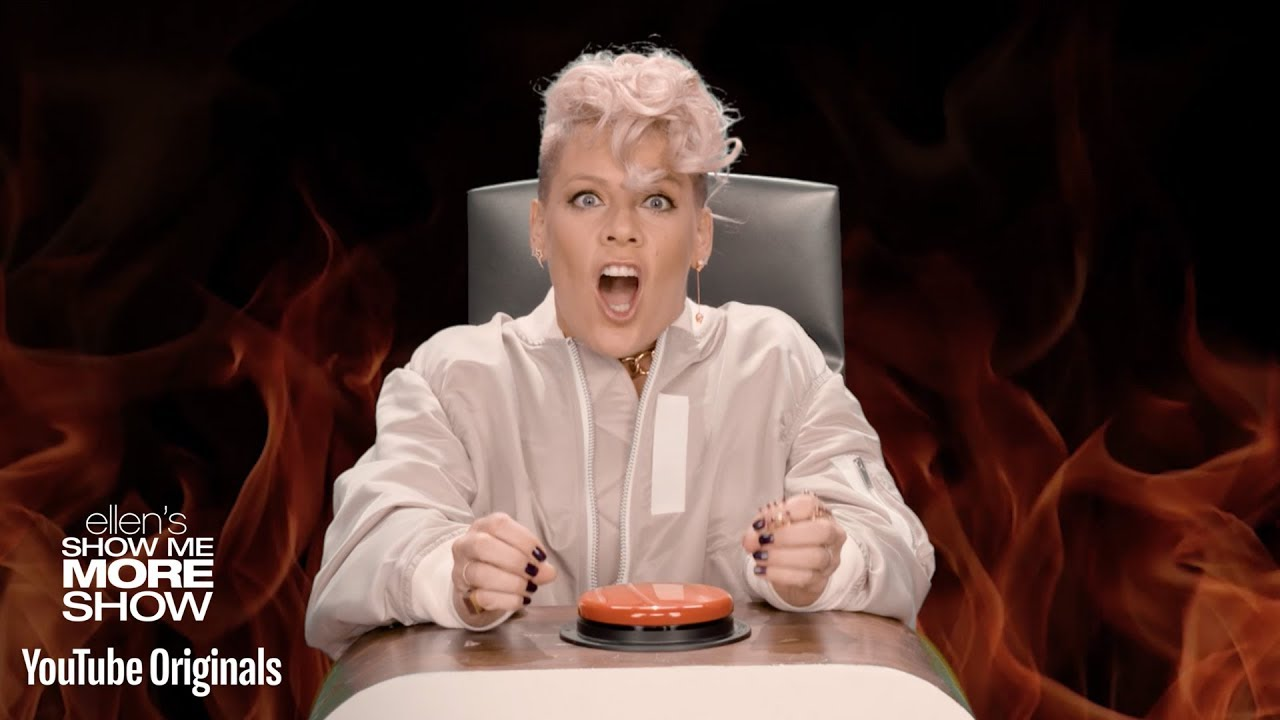 P!nk Takes On Ellen's Burning Questions