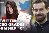 "Twitter CEO Grades Himself ""C"""