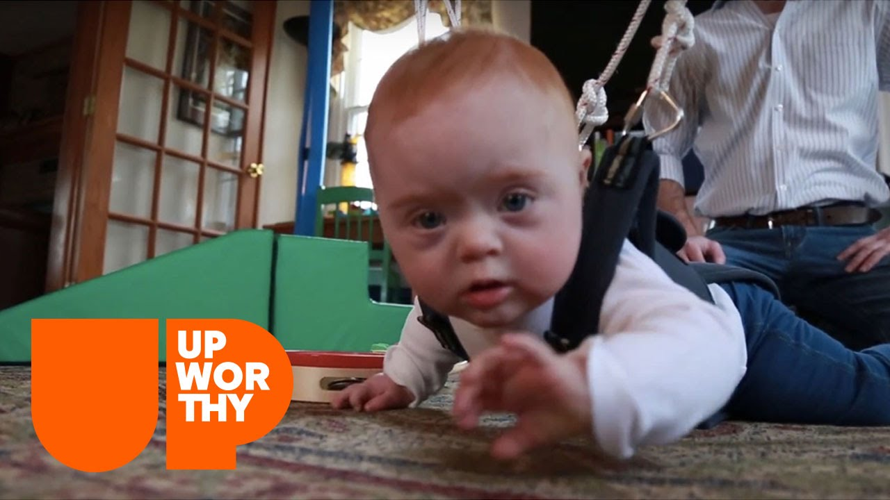 This Simple Harness Helps Down Syndrome Babies' Development!
