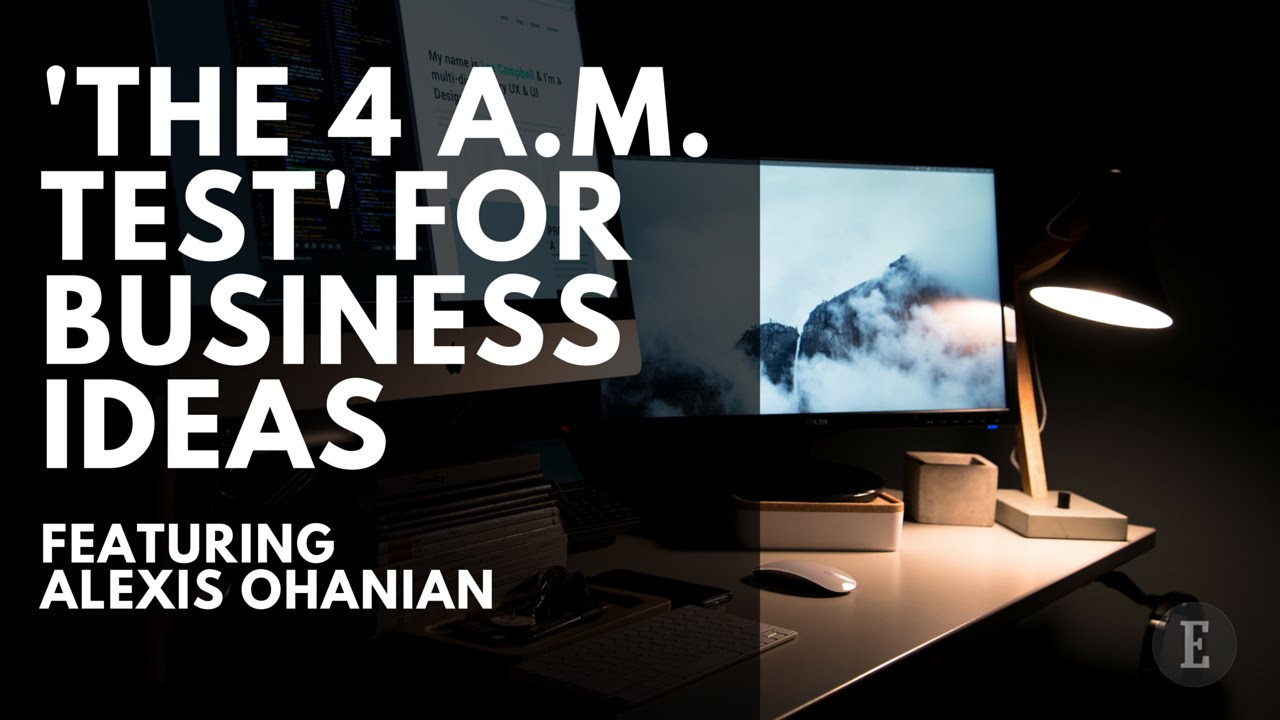 Does Your Business Idea Pass the 4 a.m. Test?