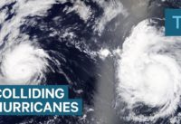 Here's what happens when two hurricanes collide
