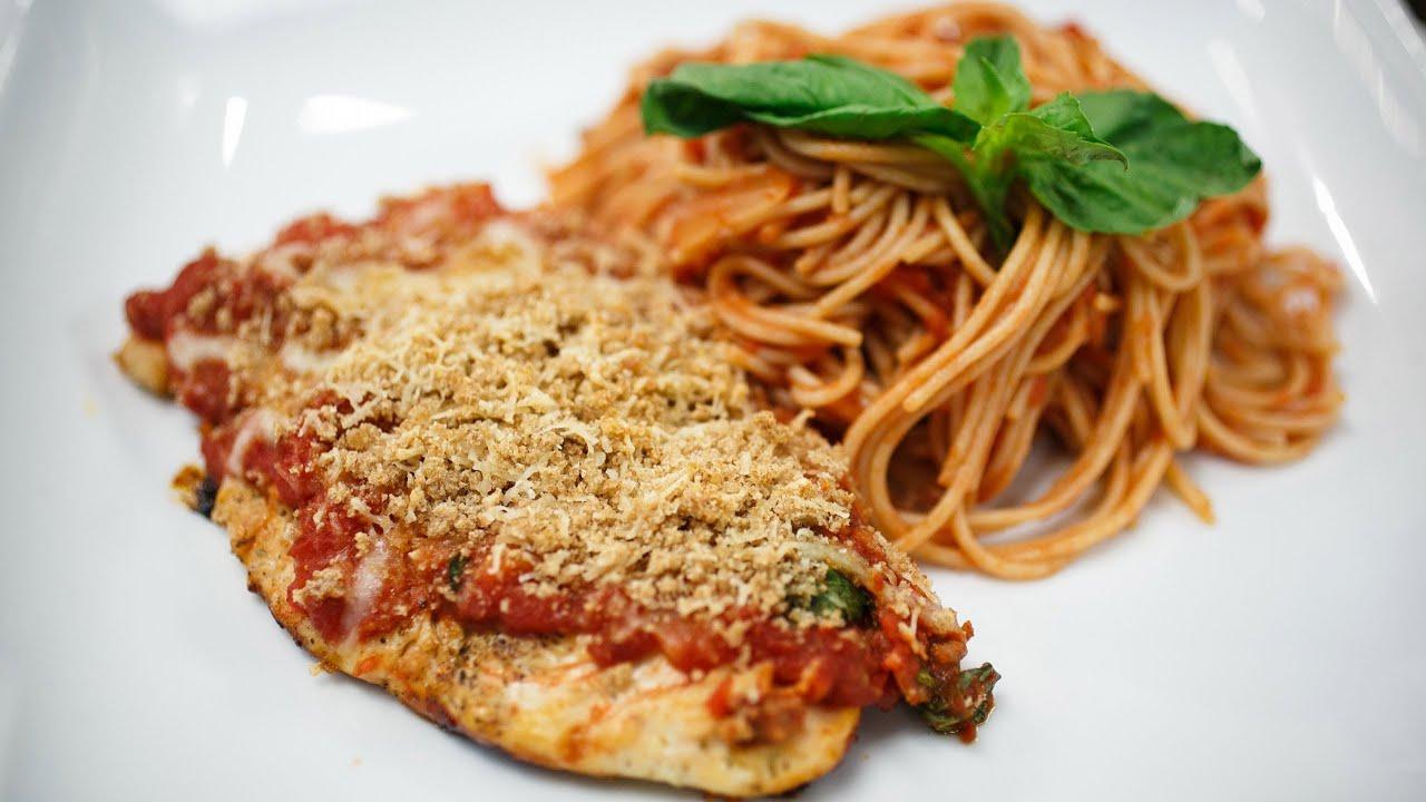 Recipe Rehab Season 1 Recipe How-To: Light Chicken Parmesan With Sausage and Tomato Sauce