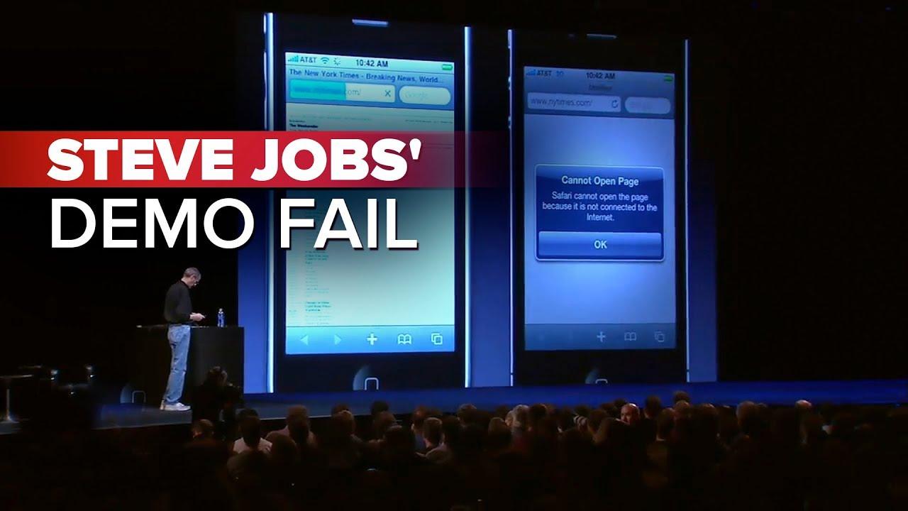 Steve Jobs' demo fail (CNET News)