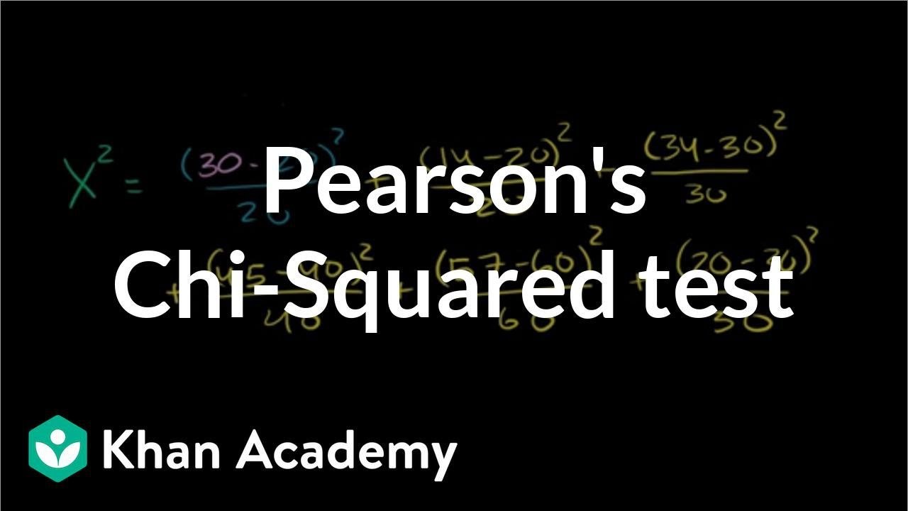 Pearson's chi square test (goodness of fit) | Probability and Statistics | Khan Academy