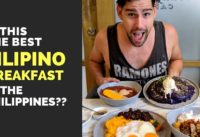 Is this the BEST FILIPINO BREAKFAST in the Philippines??? Filipino food vlog