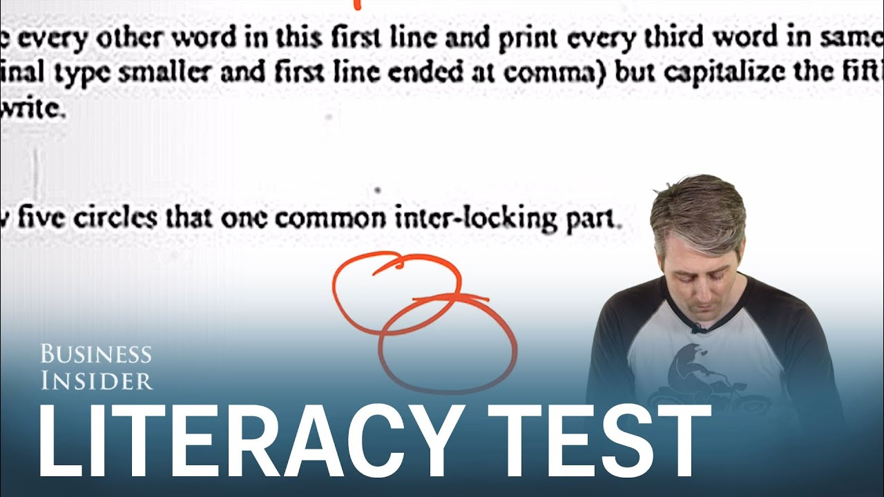 We took a Louisiana literacy test and failed spectacularly