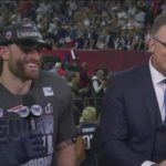 Chris Long shares Super Bowl win with HOF Father | SUPER BOWL LI