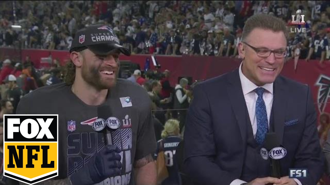Chris Long shares Super Bowl win with HOF Father | SUPER BOWL LI