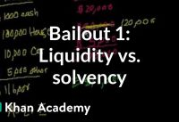 Bailout 1: Liquidity vs. Solvency