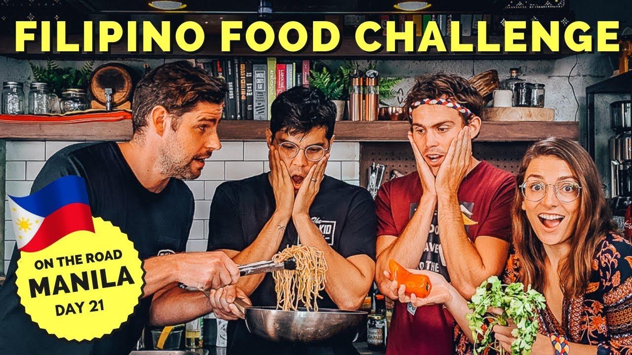 FILIPINO FOOD CHALLENGE - PANCIT feat. Erwan, Becoming Filipino and the Juicy Vlog