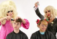 Trixie And Katya Give People Haircuts