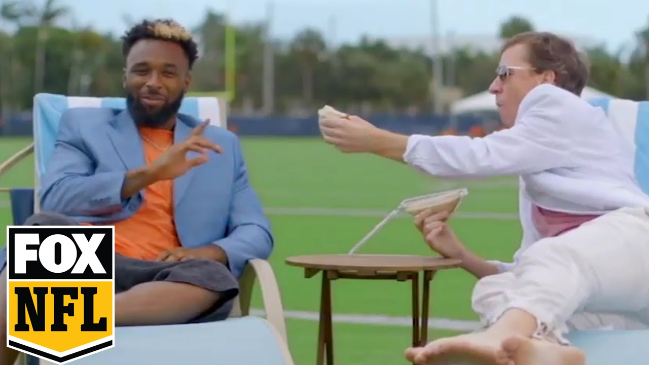Cooper Manning messes with Jarvis Landry in Miami | FOX NFL KICKOFF #MANNING HOUR