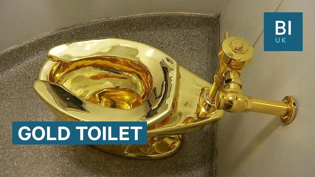There's an 18-karat gold toilet in New York