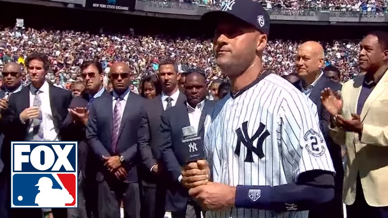 Derek Jeter's farewell speech to the Yankees on Derek Jeter Day