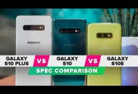 Galaxy S10E vs. S10 vs. S10 Plus: Spec Comparison