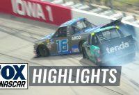 Austin Hill wrecks Johnny Sauter; Sauter retaliates under caution | NASCAR on FOX HIGHLIGHTS