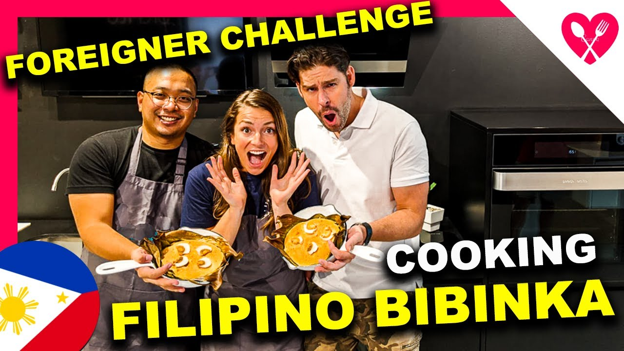 FOREIGNERS cooking FILIPINO BIBINGKA for the FIRST TIME