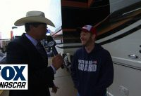 Michael Waltrip Visits Dale Jr.'s Motorcoach at Texas - 2014 NASCAR Sprint Cup