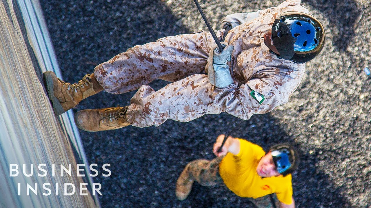 How Marine Recruits Battle Their Fear Of Heights At Boot Camp