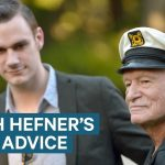 Hugh Hefner's son told us the best advice he got from his dad