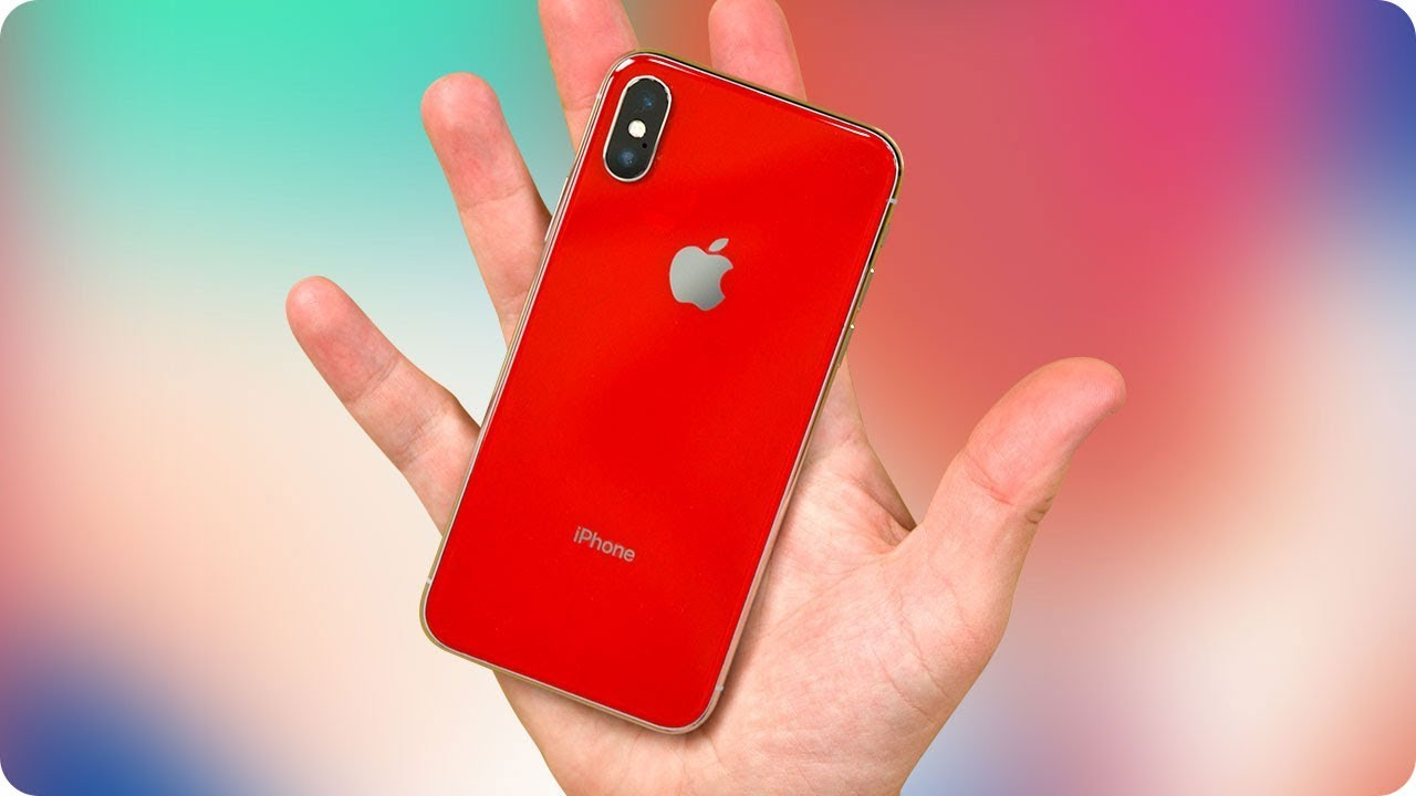I Made A Red iPhone X