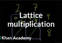 Lattice multiplication | Multiplication and division | Arithmetic | Khan Academy