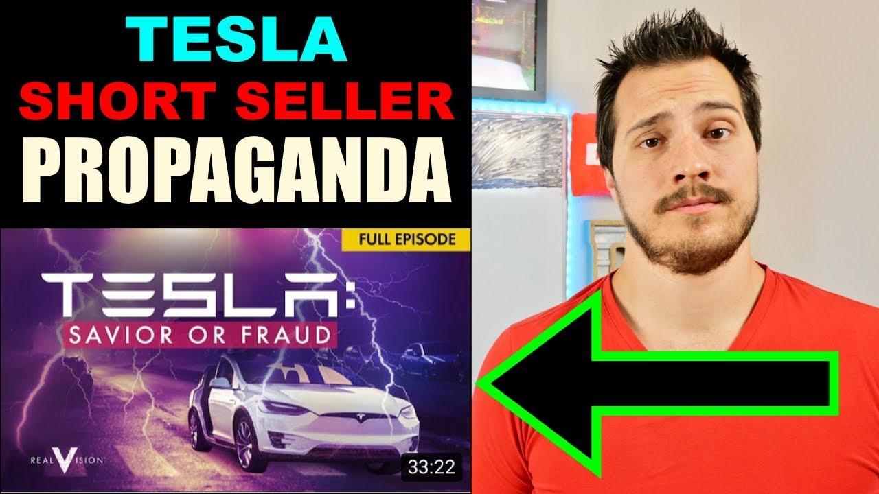 Tesla Short Seller Propaganda Youtube Video. Real Vision Tesla Documentary Reaction