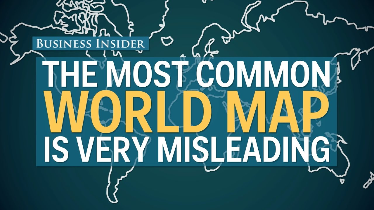 The most popular map of the world is totally misleading