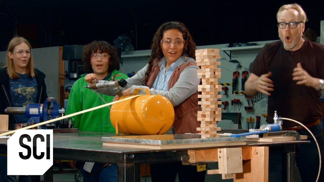 The Impossible Jenga Move | MythBusters Jr.