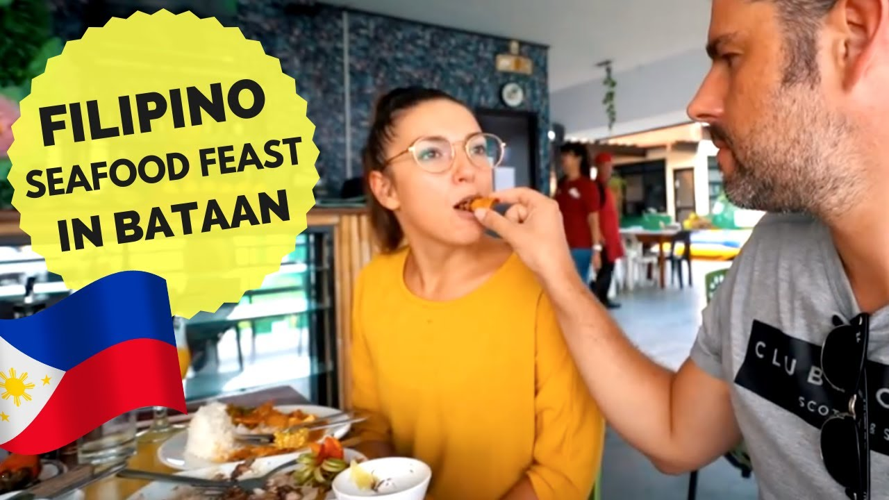 Filipino SEAFOOD FEAST in Bataan - Kare Kare, Grilled Tuna Belly & more